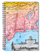 Map Of New Netherland, 1650s Spiral Notebook