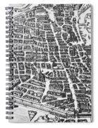 Map Of Paris Spiral Notebook