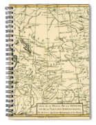 Map Of Persia Spiral Notebook