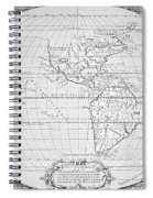 Map Of The New World 1587 Spiral Notebook