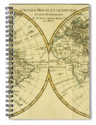 Map Of The World In Two Hemispheres Spiral Notebook