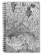 Map Of Virginia, 1624 Spiral Notebook