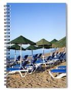 Marbella Beach And Sea Spiral Notebook