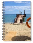 Marbella Beach In Spain Spiral Notebook