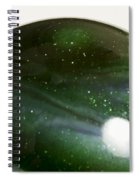 Marble Green Onion Skin 3 Spiral Notebook