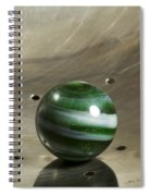 Marble Green Onion Skin 5 Spiral Notebook