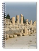 Marble Street In Ephesus Spiral Notebook