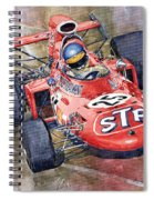 March 711 Ford Ronnie Peterson Gp Italia 1971 Spiral Notebook