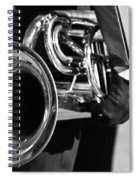 Marching Band Horn Bw Spiral Notebook
