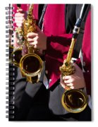 Marching Band Saxophones Cropped Spiral Notebook