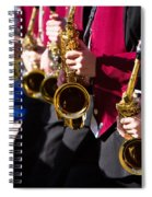 Marching Band Saxophones  Spiral Notebook