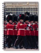 Marching In Red And Black Spiral Notebook
