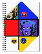 Marilyn De Stijl Spiral Notebook