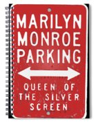 Marilyn Monroe Parking Spiral Notebook