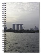 Marina Bay Sands And Flyer Along With Singapore Skyline From The Spiral Notebook