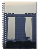Marina Bay Sands As Seen From The Harbor Cruise Spiral Notebook