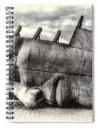 Maritime Memorial Cardiff Bay Opal Spiral Notebook