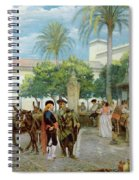 Market Day In Spain Spiral Notebook