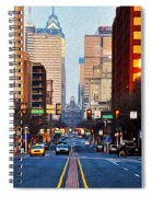 Market Street In The Morning Spiral Notebook