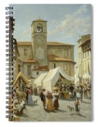 Marketday In Desanzano  Spiral Notebook
