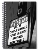 Marquee At Winterland In Late 1975 Spiral Notebook