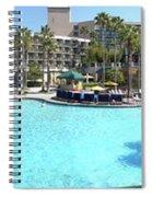 Marriott Hotel Swimming Pool Panorama Orlando Fl Spiral Notebook