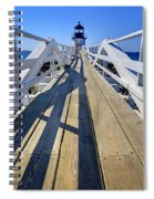 Marshal Point Lighthouse Walkway Spiral Notebook