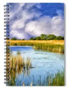 Marshlands On Isle Of Palms Spiral Notebook