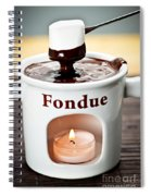 Marshmallow Dipped In Chocolate Fondue Spiral Notebook