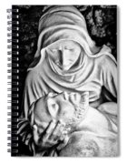 Mary Cradling Jesus Spiral Notebook