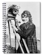 Mary Pickford (1893-1979). Born Gladys Mary Smith. American Actress, With A Movie Camera On A Beach, C1916 Spiral Notebook
