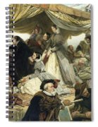 Mary Stuart's Farewell To France Spiral Notebook