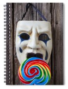 Mask Licking Sucker Spiral Notebook