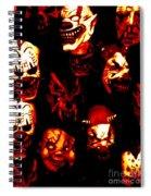 Masks Of Fear Spiral Notebook