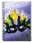 Masque Over Bourbon Street Spiral Notebook