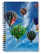 Mass Hot Air Balloon Launch Spiral Notebook