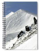 Massif Of Sancy In Winter. Puy De Dome. Auvergne Spiral Notebook