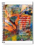 Matthew 5 Spiral Notebook