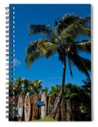 Maui Surfboard Fence - Oldest Section Spiral Notebook