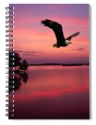Mauve Sundown Eagle  Spiral Notebook