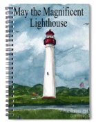 May The Magnificent Lighthouse  Spiral Notebook