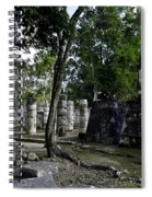 Mayan Colonnade Two Spiral Notebook