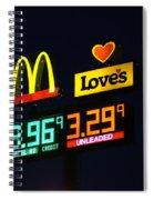 Mcdonalds Loves Gas Spiral Notebook