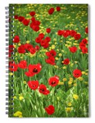 Meadow With Tulips Spiral Notebook