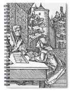 Medieval Arithmetic Spiral Notebook