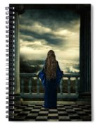 Medieval Lady Watching The Sea Spiral Notebook