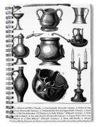 Medieval Utensils Spiral Notebook