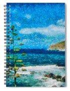 Mediterranean View Spiral Notebook