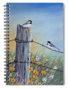 Meeting At The Old Fence Post Spiral Notebook
