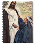 Meeting Of Jesus And Martha Spiral Notebook